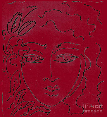 Drawing - Face Red by Lydia L Kramer