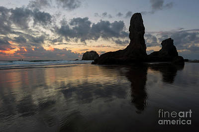 Photograph - Face Rock Dusk by Mike Dawson