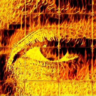 Digital Art - Face The Fire by Gina Callaghan