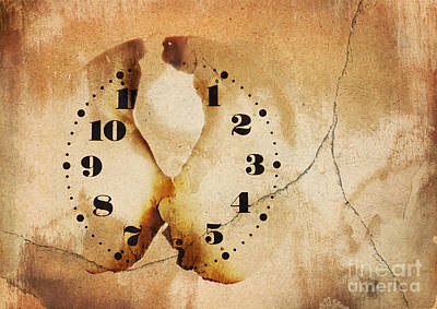 Symbolic Patterns Digital Art - Face Time by Michal Boubin