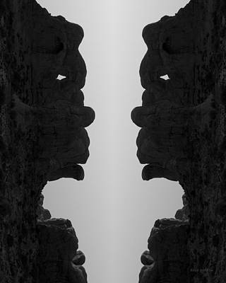Montage Photograph - Face To Face IIi Bw by David Gordon