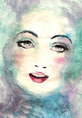 Face Upon The Water Art Print by Scarlett Royal