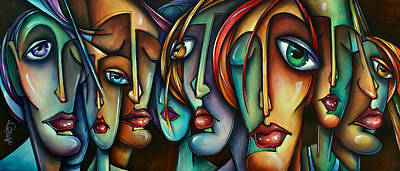 Expressions Painting - 'face Us' by Michael Lang