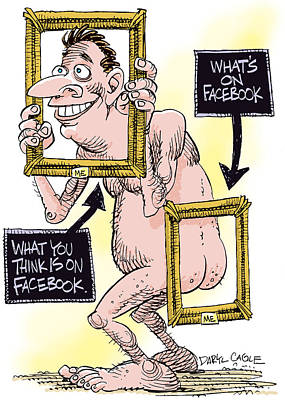 Drawing - Facebook Privacy by Daryl Cagle