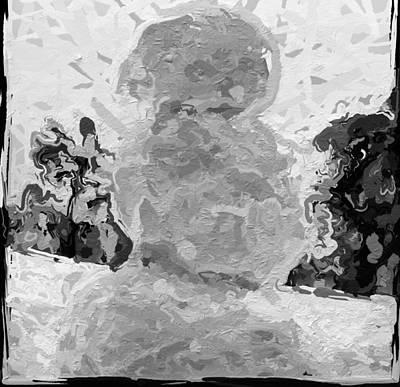 Faceless Snowman Art Print