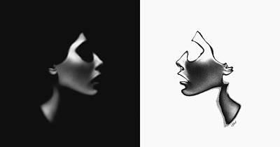Faceless Art Print by Steve K