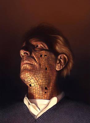 Utherworlds Painting - Faceplate by Philip Straub