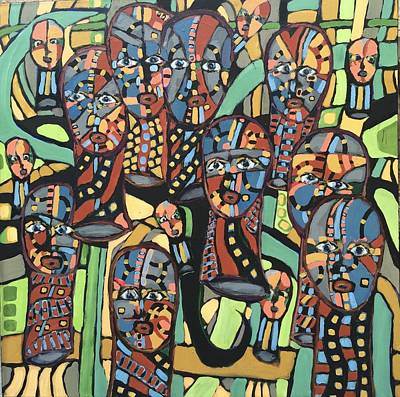 Painting - Faces # 20 by Jeffrey Davies