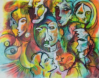 Faces 1 Art Print by Rina Bhabra