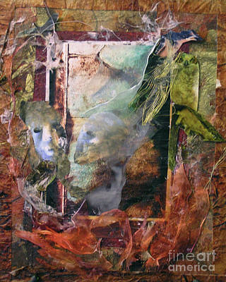 Painting - Faces Amidst Tattered Shroud - Bgats by Fr Bob Gilroy SJ
