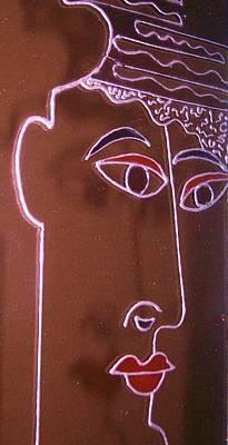 Faces And Alphabets Art Print by Sylvia Hanna Dahdal