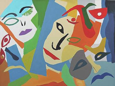 Painting - Faces I by Charla Van Vlack