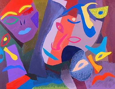 Painting - Faces II by Charla Van Vlack