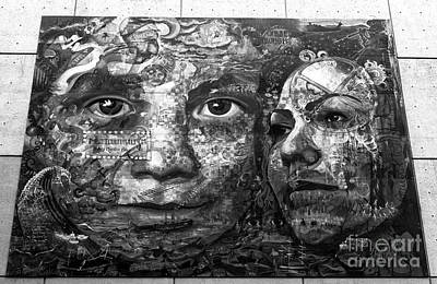 Photograph - Faces In Vancouver Mono by John Rizzuto