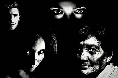 Digital Art - Faces by John Haldane
