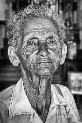 Faces Of Cuba The Woman In Need Art Print