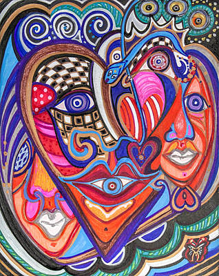Faces Of Hope Art Print