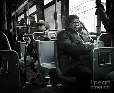 Photograph - Faces On A Bus - 1 by Miriam Danar