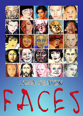Painting - Faces Poster by John Keaton