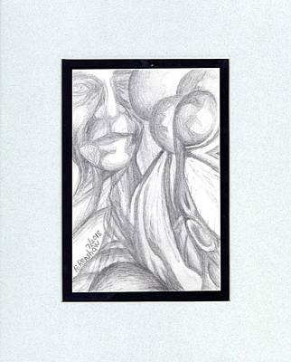 Drawing - Faces by Ruth Renshaw