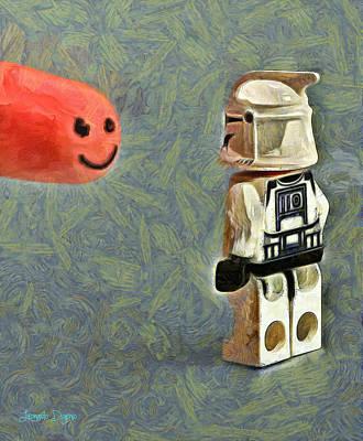 Lego Painting - Facetrooper - Pa by Leonardo Digenio