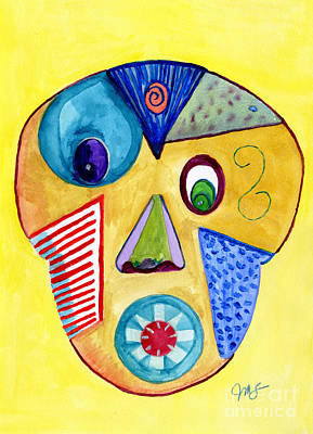 Painting - Facial Abstract by Julia Stubbe