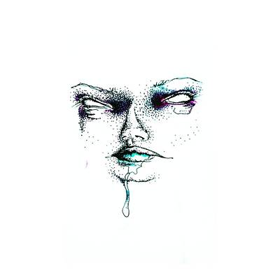 Drippy Drawing - Facial by Alia Griese