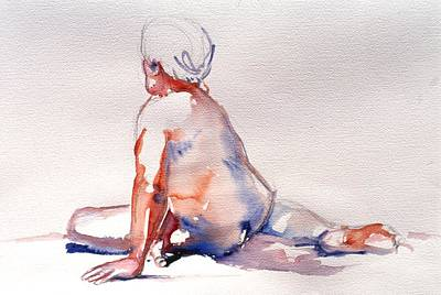 Painting - Facing Away by Barbara Pease