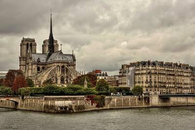 Photograph - Facing Notre Dame From Pont De La Tournelle - 1  by Hany J
