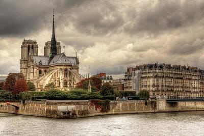 Photograph - Facing Notre-dame From Pont De La Tournelle - 2 by Hany J