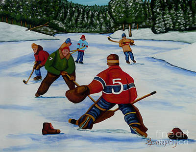 Painting - Facing The Goalie by Anthony Dunphy