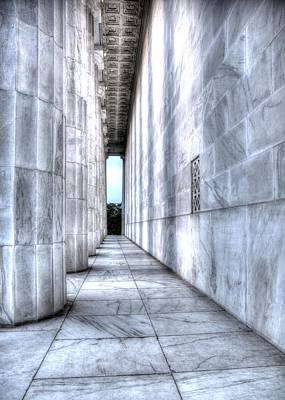 Photograph - Facing The Potomac.  West Side Of Lincoln Memorial. by John King