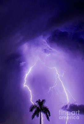 Hurricane Thunder Photograph - Facing The Storm by Jon Neidert