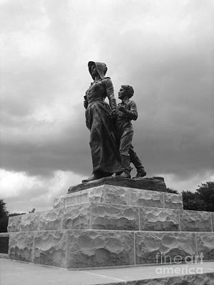 Photograph - Facing The Storm Pioneer Woman Statue Oklahoma Icon   by Ann Powell