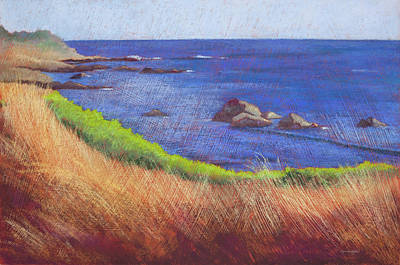 Pastel - Facing West-Cambria by Lynn Goldstein