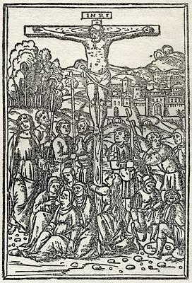 Facsimile Of The Crucifixion Used As Art Print