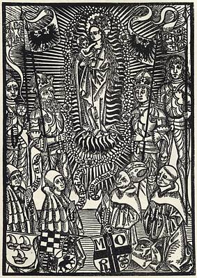 Facsimile Of The Madonna In Glory From Art Print
