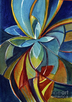 Painting - Fractal Flower by Allison Ashton