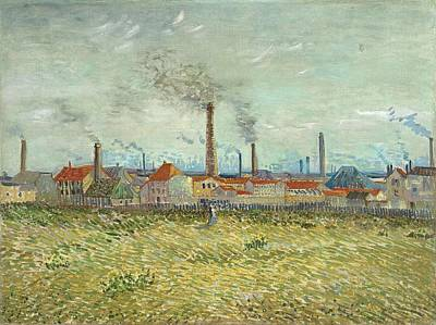 Painting - Factories At Clichy by Artistic Panda
