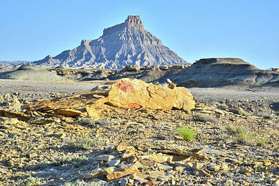 Photograph - Factory Butte Gold Bar by Ray Mathis