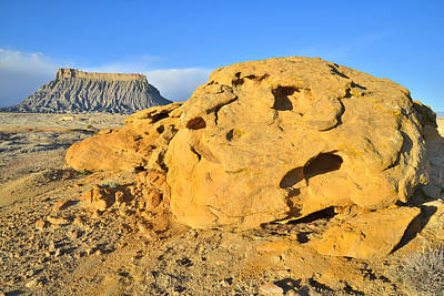 Photograph - Factory Butte Gold by Ray Mathis
