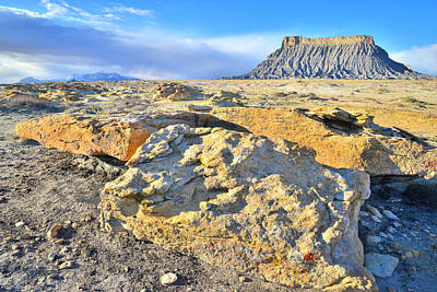 Photograph - Factory Butte Morning by Ray Mathis