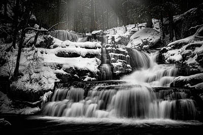 Photograph - Factory Falls In Winter by Chris Lord