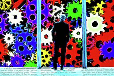 Digital Art - Factory Floor by John Haldane