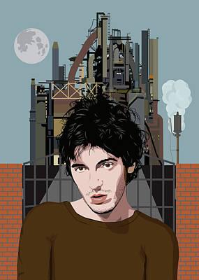 Bruce Springsteen - Factory Art Print
