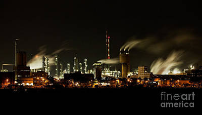 Gas Photograph - Factory by Nailia Schwarz