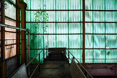 Industrial Decay Photograph - Factory Wall - Industrial Decay by Dirk Ercken