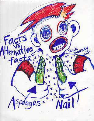 Asparagus Painting - Facts Verses Alternative Facts by Susan Brown    Slizys art signature name