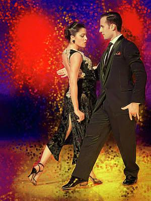 Flamenco Mixed Media - Facundo Pinero And Vanesa Villalba 3 by Elzbieta Petryka