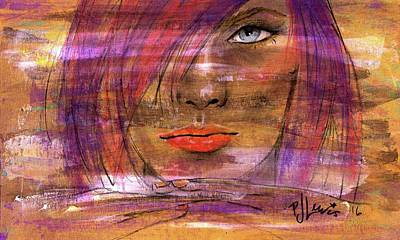 Art Print featuring the painting Fadding Away by P J Lewis